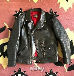 The Flat Head Horsehide Leather Rider's Jacket 42 Motorcycle Delraiser