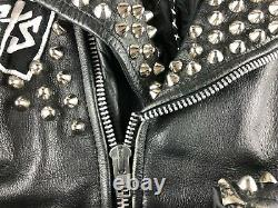 The Misfits Dead Kennedys Studded Leather Punk Jacket Vintage Rare Size L 44