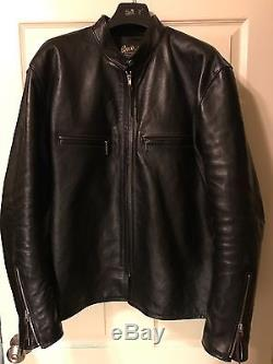 The Real Mccoys Buco J-100 Horsehide Leather Cafe Racer Jacket XL 46
