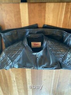 Thedi Buco J-100 Cafe Racer Black Horsehide Leather Jacket XL-US- 44/46