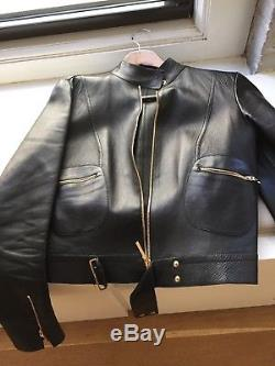 Tom Ford for Gucci Black Leather Motto Jacket
