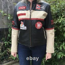 Tough Riders Leather Racing Jacket Fila PlayStation PS1 2006 Champion Retro RARE