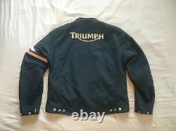 Triumph mesh armor lined motorcycle jacket Large (46/56) in excellent condition
