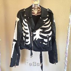 UNIF Boneyard Moto Skeleton Vegan Leather Jacket