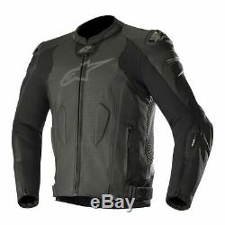 USED 2018 Alpinestars Missle Tech-Air Leather Motorcycle Jacket Blk/Blk SIZE 60