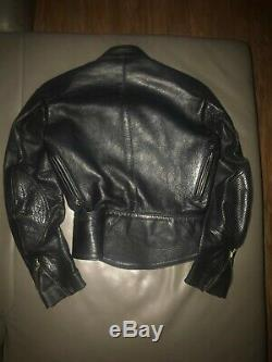 Unisex Classic Vintage Vanson Leather Motorcycle Jacket Size 8