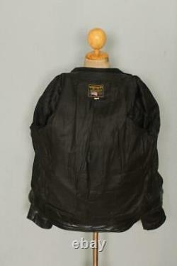 VANSON Cafe Racer Motorcycle Biker Leather Jacket Size 36/38