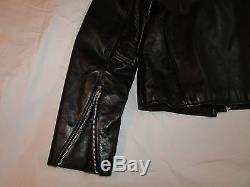 VANSON Leather Mercury Jacket, Black, Mens Size 46, Excellent Condition