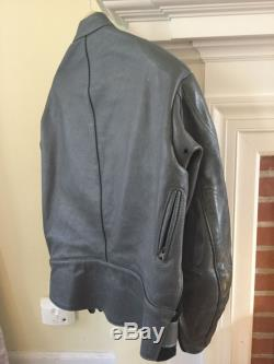 VANSON Leather motorcycle jacket, size 48, grey, padded arms/shoulder