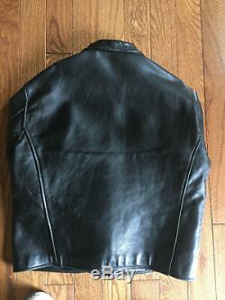 VANSON MERCURY BLACK LEATHER JACKET Size 48 Classic Style Exc + Helmet
