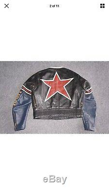 VANSON Star Leather Jacket 38