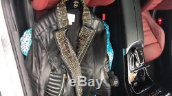 VERSACE x H&M Black Leather Biker Moto Studded Jacket Large