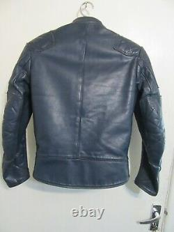 VINTAGE 70s AVIAKIT LEWIS LEATHERS MONZA MOTORCYCLE JACKET SIZE 36 CLIXL ZIP