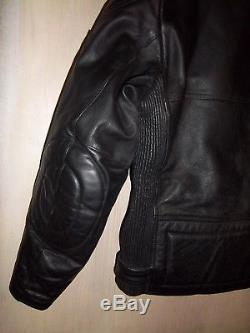 VINTAGE 80's BELSTAFF LEATHER TWIN TRACK MOTORCYCLE JACKET SIZE 44
