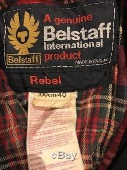 VINTAGE BELSTAFF WAXED MOTORCYCLE JACKET REBEL size 40 FREE UK DELIVERY
