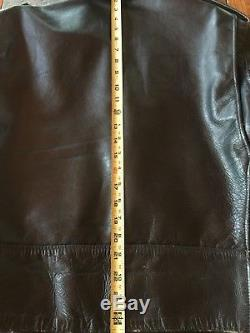 VINTAGE mens PERFECTO SCHOTT Cafe Racer Motorcycle leather jacket Size 44