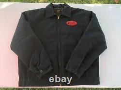 VON DUTCH Vintage & Classic GAS STATION Motorcycle Work Jacket Black RARE 2XL