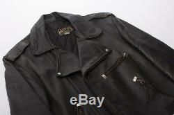 VTG 1950's Buco Horsehide Leather Motorcycle Jacket Size 40 Nice