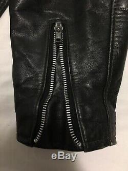 VTG 70s Schott Perfecto 618 Leather Talon Zipper Motorcycle Jacket Mens 46 613