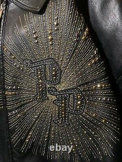 VTG Marc Buchanan PELLE PELLE Studded Leather Jacket King Of King Sz 3XL 58