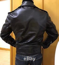 VTG Schott 613/618 One Star Perfecto Motorcycle Cafe Racer Leather Jacket 36