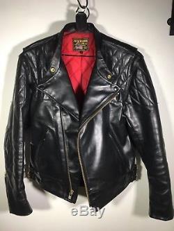 Vanson Chopper Leather Motorcycle Jacket Large