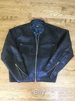 Vanson Comet motorcycle jacket flawless XL black cowhide leather