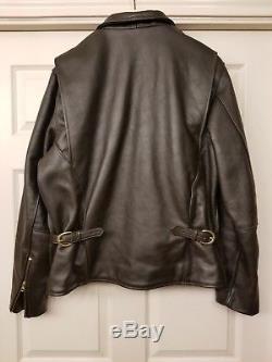 Vanson Enfield Competition Weight Brown 48 XL Motorcycle Jacket Aero Schott