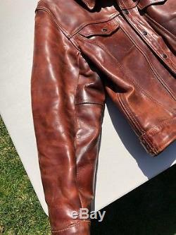 Vanson Horsehide Jacket Mens 44 Maverick (Levis trucker style) Motorcycle jacket