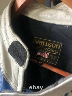 Vanson Leather Jacket Size 44 Made In USA
