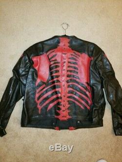 Vanson Leather Skeleton Bones Jacket