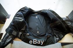 Vanson Leathers, Black Leather Riding Jacket, Mens L