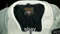 Vanson Leathers Gray Blue motorcycle Jacket size 62