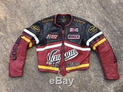 Vanson Leathers Star Genesis NYC Racing Motorcycle Jacket Size 42