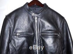 Vanson Men's Black Leather Zip Coat Jacket Size 42 Made in USA