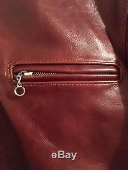 Vanson Model B Cafe Racer, Brown Leather Jacket, Size 36