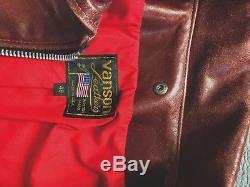 Vanson Oxford 9D Leather jacket 48 XL OCTAGON TAN for Thurston bros not schott