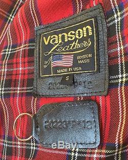 Vanson Robinson Motorcycle Jacket Men's size Small (38)