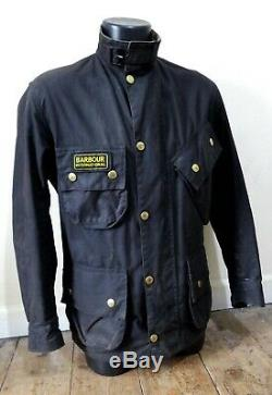 Very Rare Vintage Barbour A7 Steve Mcqueen Style Wax Jacket Motorcycle Icon