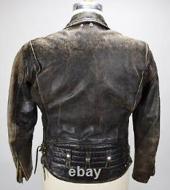 Vintage 1950's Langlitz Leathers Columbia Horsehide Motorcycle Jacket 42 Rare