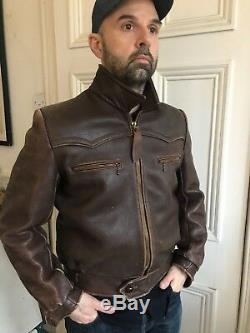 Vintage 1950s French Leather Motorcycle Jacket