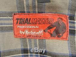 Vintage 1960's Belstaff Trialmaster Black Waxed Motorcycle Jacket Men's Size 42