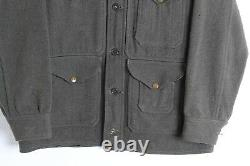 Vintage 30s Filson Wool Cruiser Jacket Forest Green Unique Snaps Distressed