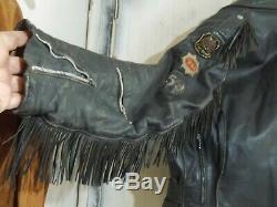 Vintage 50's Aviakit Lewis Leathers Fringed Bronx Motorcycle Jacket Size 46