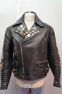 Vintage 60's D Lewis Leathers Rockers Motorcycle Jacket Size 42 Bsa Iom Tt Race