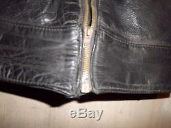 Vintage 60's Lewis Leathers Phantom Motorcycle Jacket Size 34 Xxs Lightning Zips