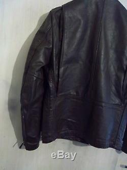 Vintage 60's Schott 61172 Leather Cafe Racer Motorcycle Jacket Size M Talon