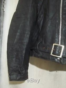 Vintage 60's Schott Perfecto Leather Motorcycle Jacket Size 40