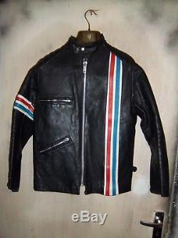 Vintage 60's Tt Leathers Cafe Racer Motorcycle Jacket Size 40 Clix, Newey Studs