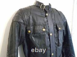 Vintage 70'S Belstaff TOURMASTER TROPHY Waxed Motorcycle Jacket Size 38 UK Made